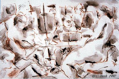 Pen Painting - Studio D by Chuck Berk