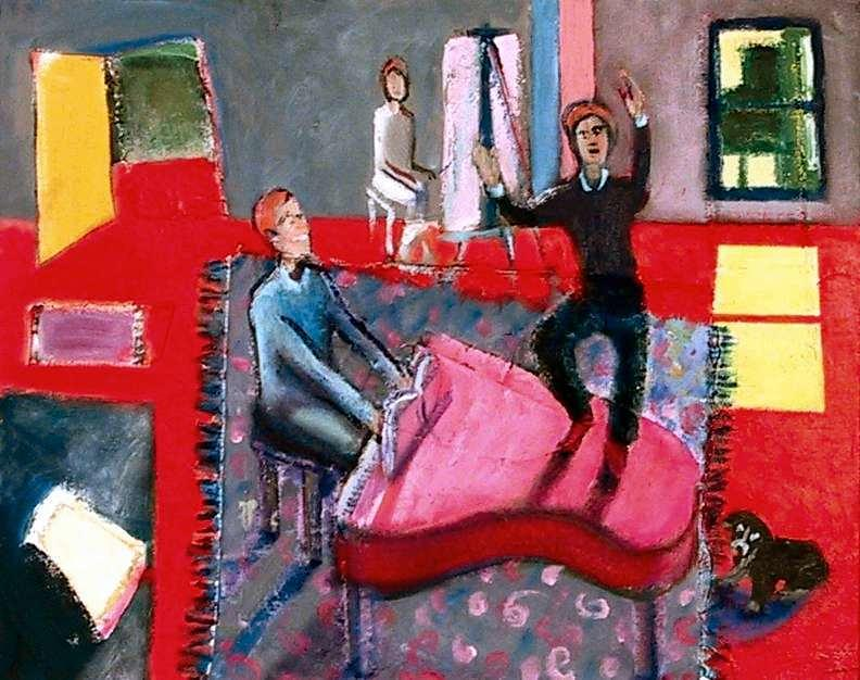 Figurative Painting - Studio by Dominic Fetherston