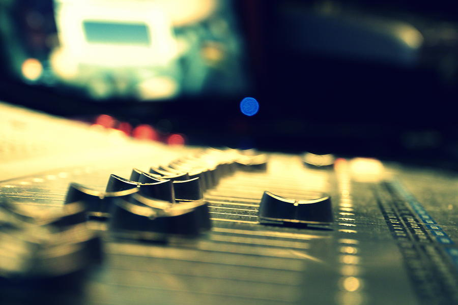 Studio Photograph - Studio Moments - Faders by Trance Blackman