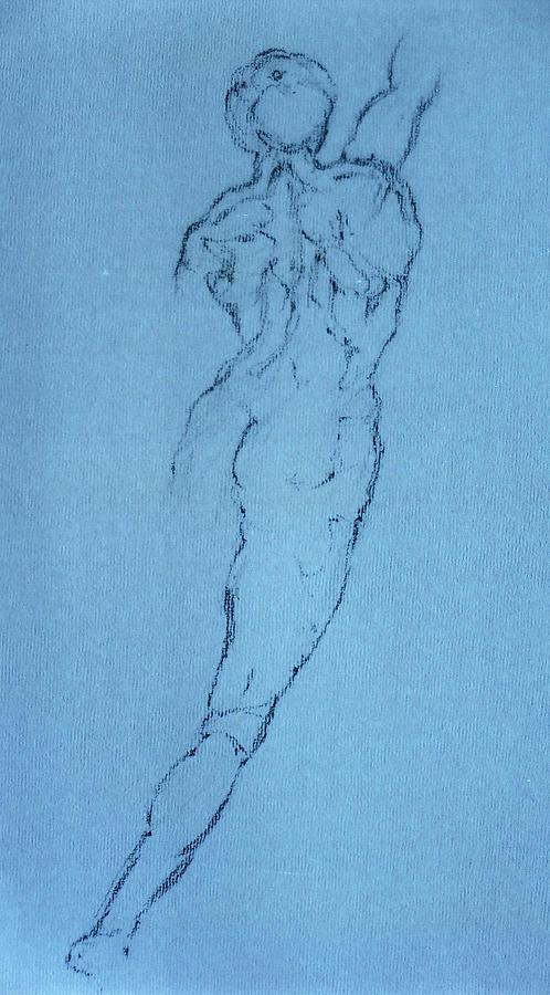 Figure Pastel - Study 64 by Mohd Raza-ul Karim