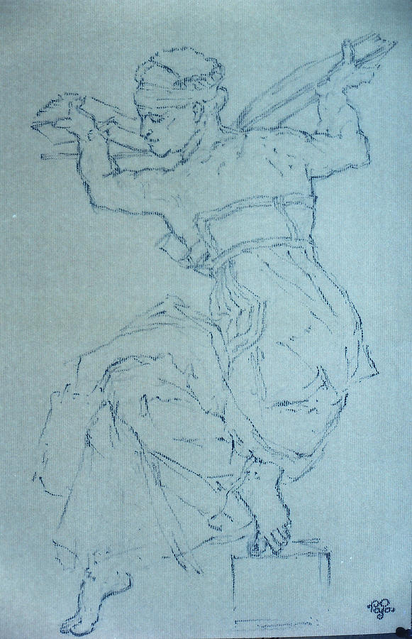 Figure Pastel - Study 65 by Mohd Raza-ul Karim