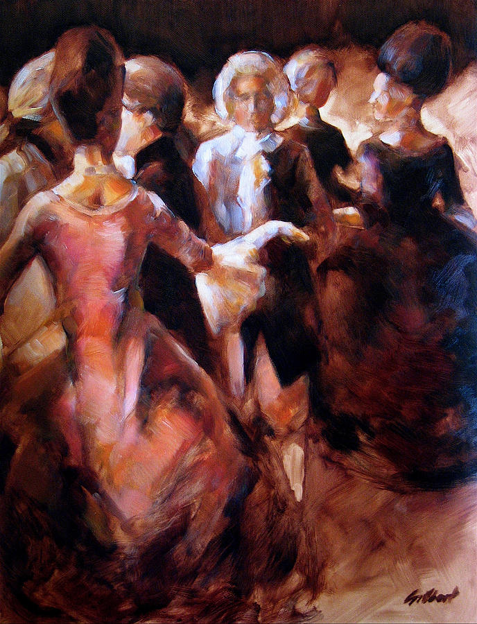 Figurative Painting - Study For At The Ball by Stuart Gilbert