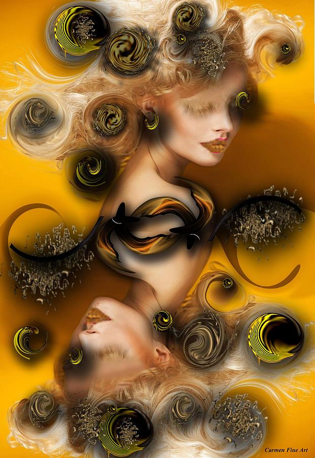 Study Digital Art - Study For Charming Poetry by Carmen Fine Art