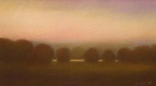 Pastel Pastel - Study For Evening Landscape by Scott Jeffs
