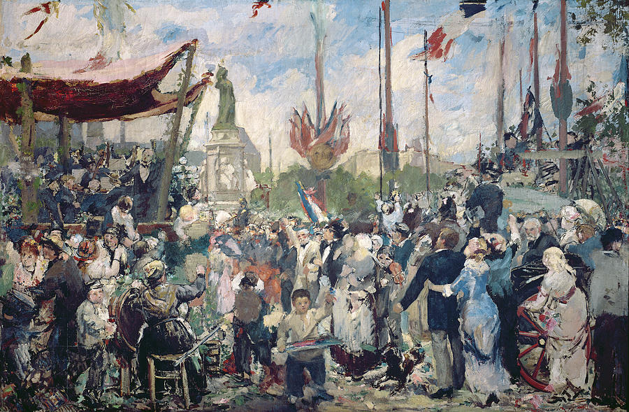 Study Painting - Study For Le 14 Juillet 1880 by Alfred Roll