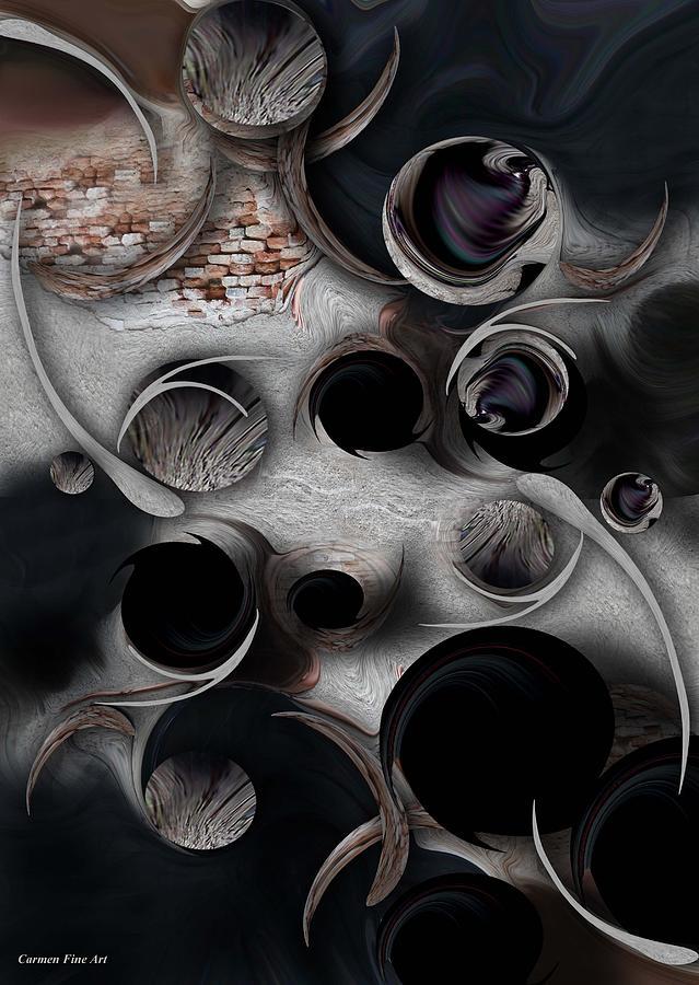 Dark Fantasy Digital Art - Study for Mystic Reality by Carmen Fine Art