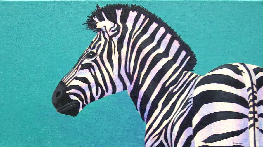 Zebra Painting - Study For Prima Donna Zebra by Scott Gordon