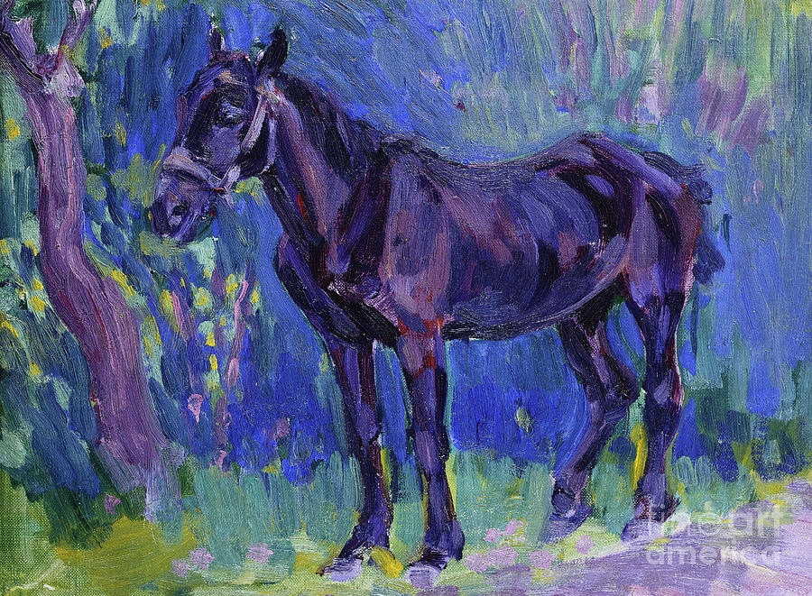 Horse Painting - Study for Sussex Farm Horse by Robert Polhill Bevan