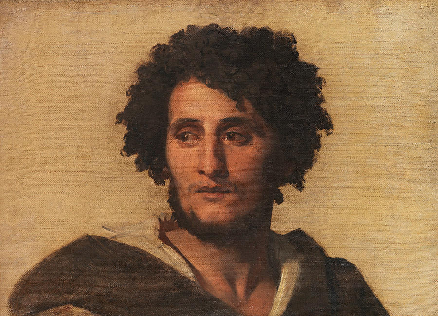 study head of a roman painting by anselm feuerbach. Black Bedroom Furniture Sets. Home Design Ideas