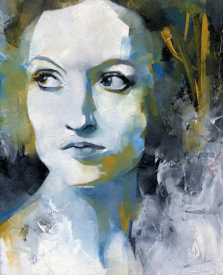 Portrait Painting - Study In Blue And Ochre by Patricia Ariel