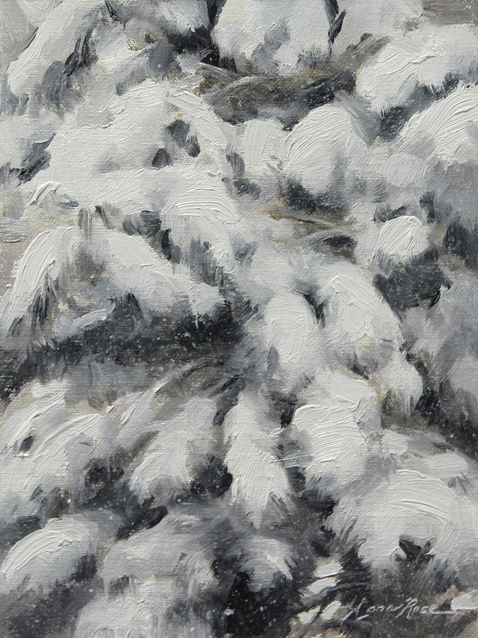 Winter Painting - Study in Torrit Grey by Anna Rose Bain