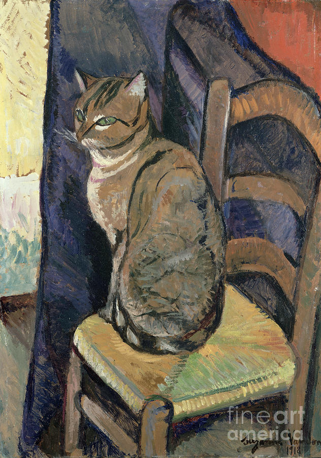 Study Painting - Study Of A Cat by Suzanne Valadon