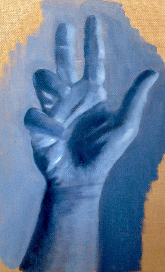 Study Of A Hand Painting by Cynthia Mozingo