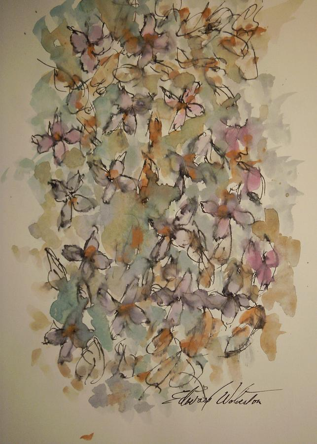 Floral Painting - Study Of Flowers P by Edward Wolverton