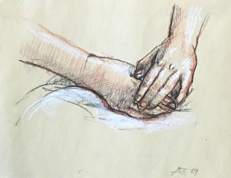 Study of hands by Alejandro Lopez-Tasso