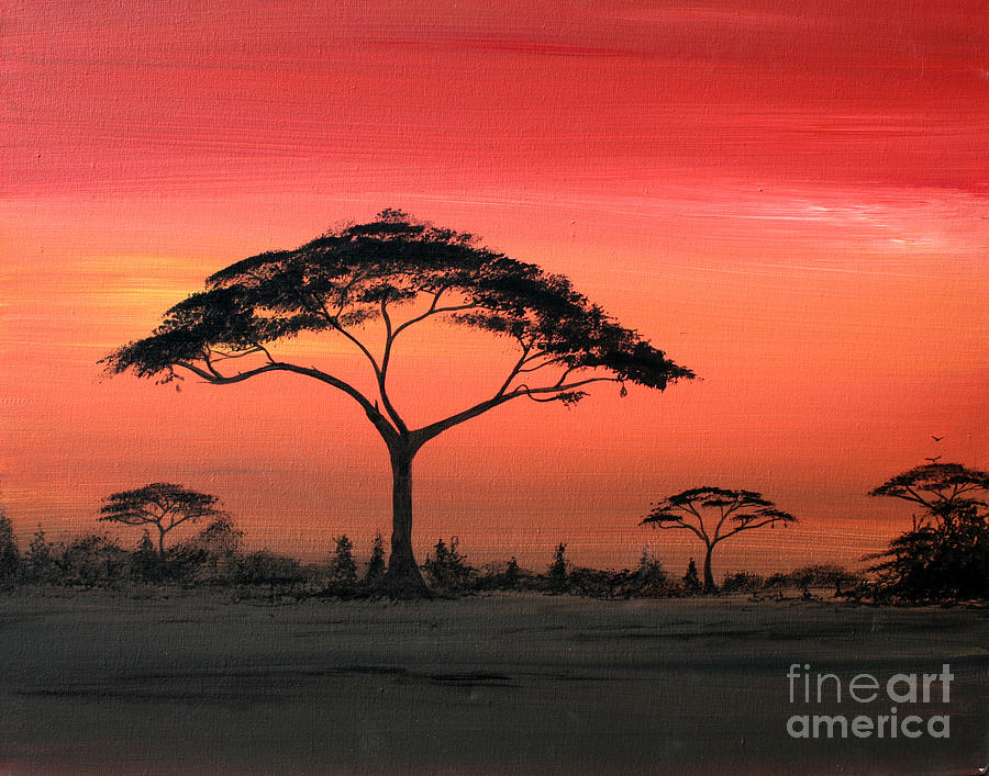 Painting Painting - Study Of Sunset 6 by Abu Artist