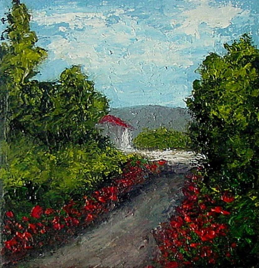 Landscape Painting - Study Provence Roses by Fred Wilson
