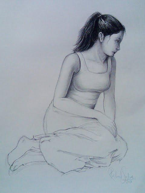 Figurative Drawing - Study Sketch by Rahul  Salve