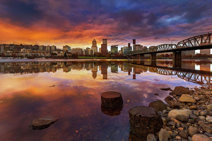 Sunset Photograph - Stumptown Sunset by David Gn