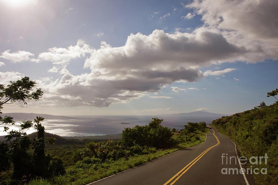 Adventure Photograph - Stunning Sunset On Kula Road Maui Hawaii by Denis Dore