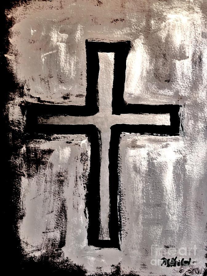Cross Painting - Stunningly Beautiful by Marsha Heiken