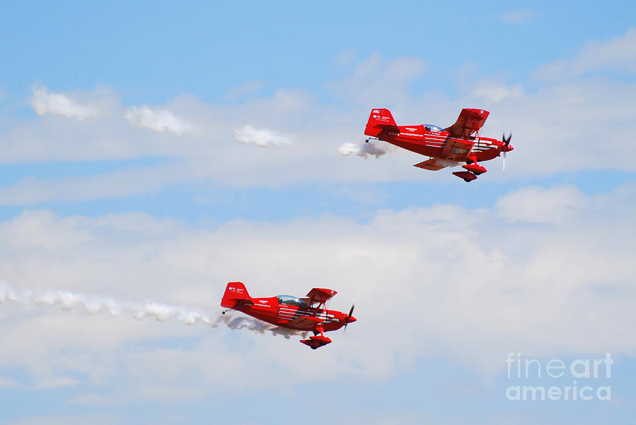 Stunts Photograph - Stunt Pilots by Larry Keahey
