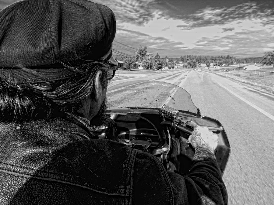 Black And White Photograph - Sturgis Bound by Sara Young