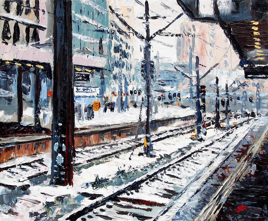 Urban Painting - Stuttgart Main Station by Stefan Boettcher
