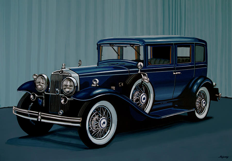 Stutz Painting - Stutz DV32 1933 Painting by Paul Meijering