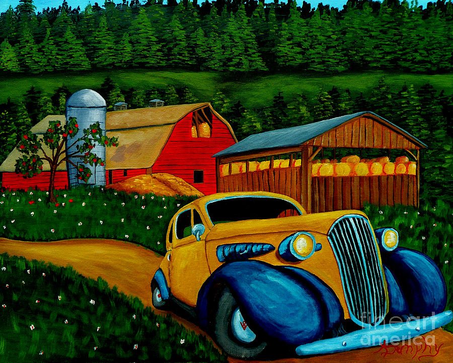 Classic Car Painting - Style And Structure by Anthony Dunphy