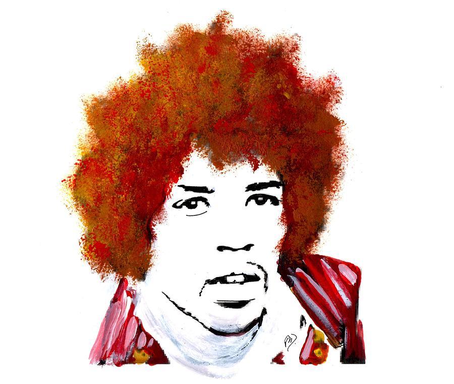 Stylized Hendrix by Joe Dagher