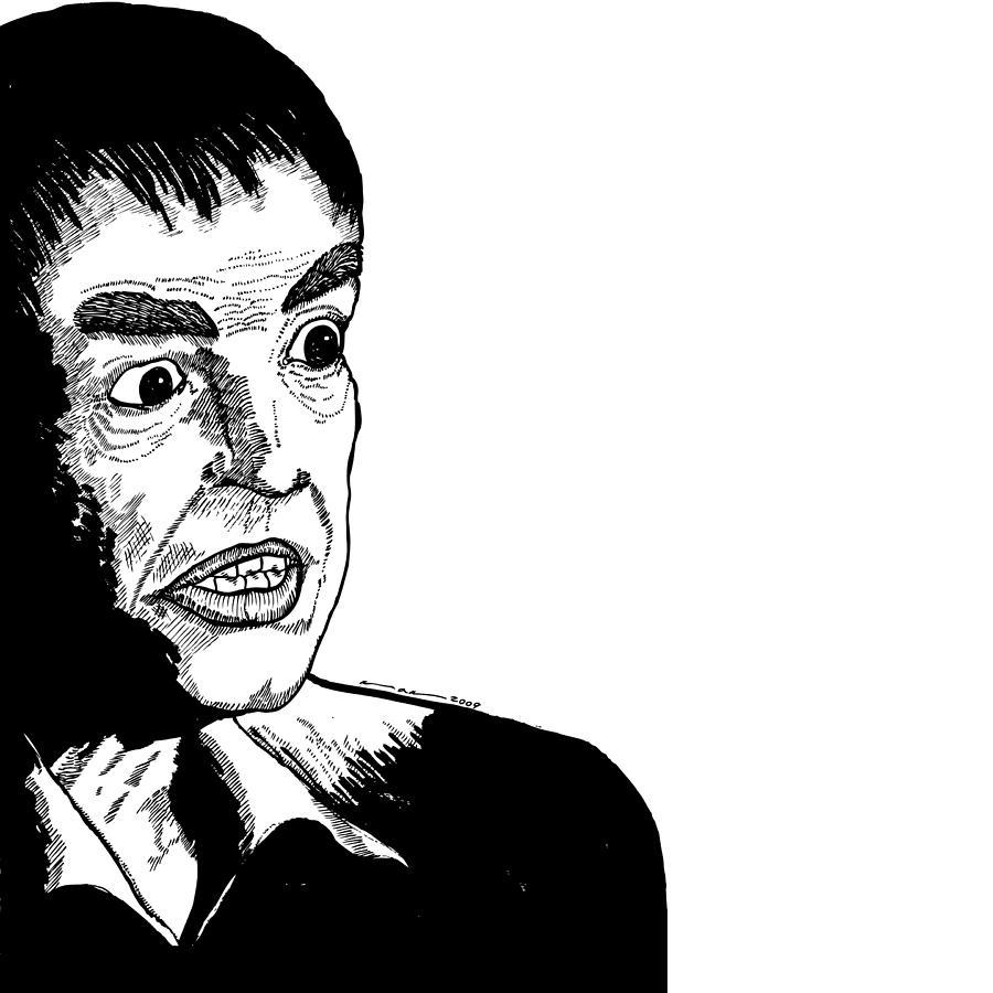 Drawing Drawing - Stylized Man by Karl Addison