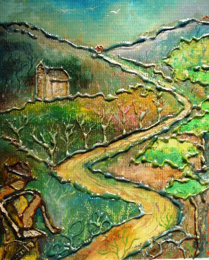 Stylized Rendition Of Landscape Painting Painting by Victor Espinosa