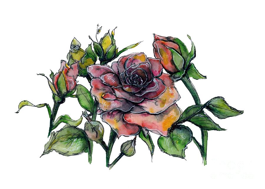 Stylized Roses by Lauren Heller