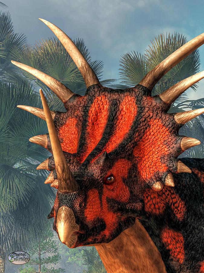 Styracosaurus Head Digital Art