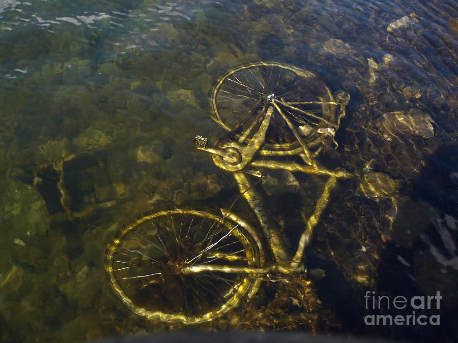 Submarine Bike Pyrography by Catalin Mihaila