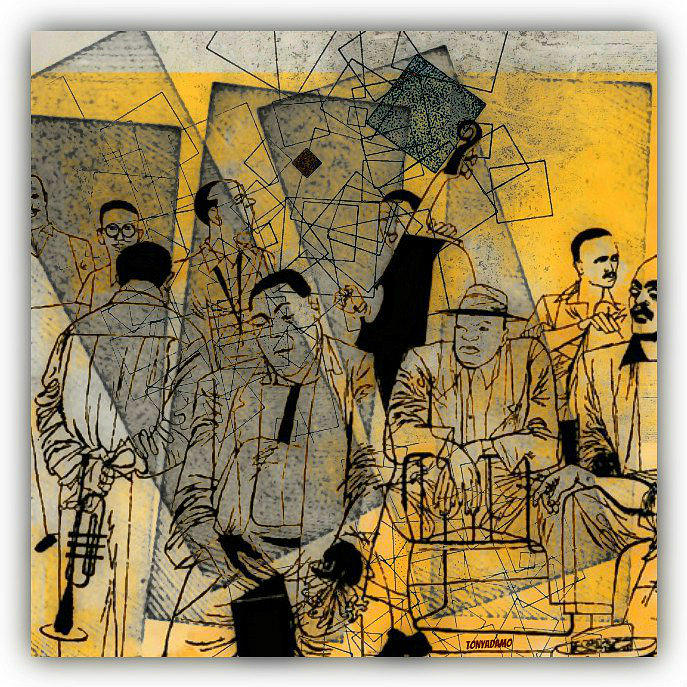 Submitted Cd Cover For The Band Bebop Complex 50s Jazz Revisited Digital Art by Tony Adamo
