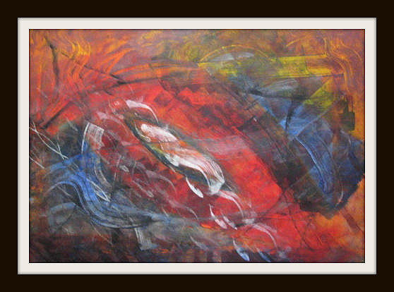 Abstract Painting - Subtle Mind by Catherine Emile