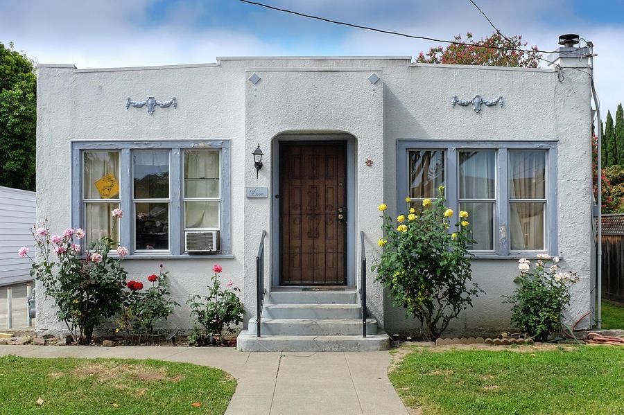 Suburban Art Deco Style House Hayward California 16 Photograph By Kathy Anselmo