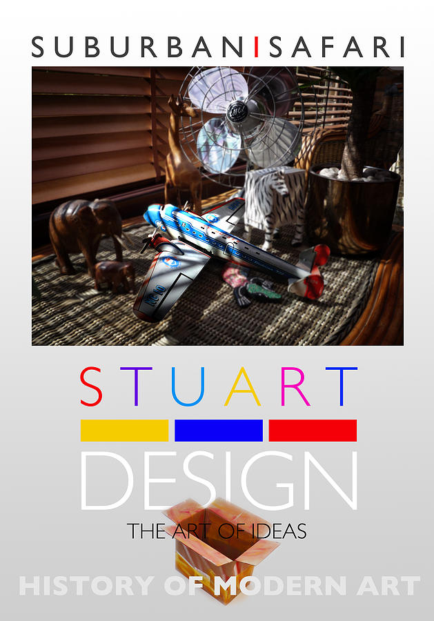 De Stijl Photograph - Suburban Safari Poster by Charles Stuart