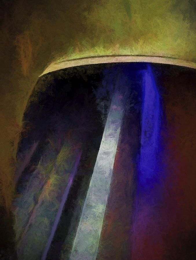 Abstract Digital Art - Subway #1 by Julie Wagaman