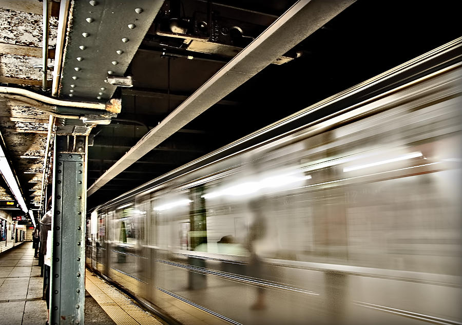 Subway Photograph - Subway Blur by Barry C Donovan