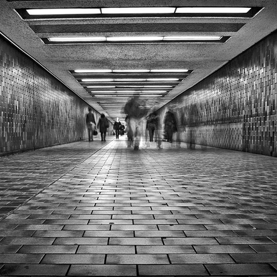Toronto Photograph - Subway Ghost Walkers No 8.  spadina by Brian Carson