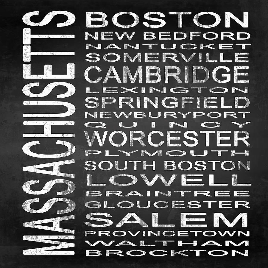 Subway Sign Digital Art - Subway Massachusetts State Square by Melissa Smith