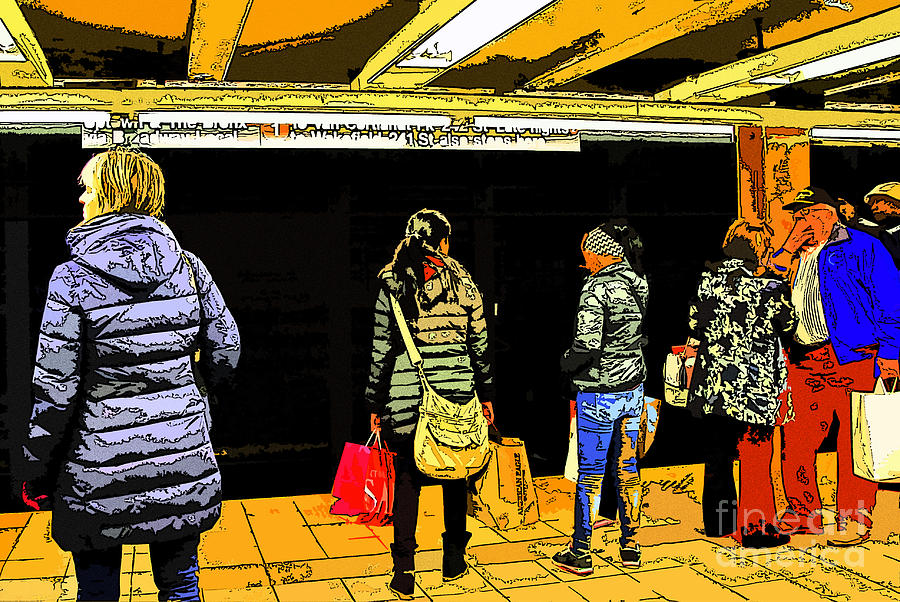 Subway Platform Digital Art by Gino Inocentes