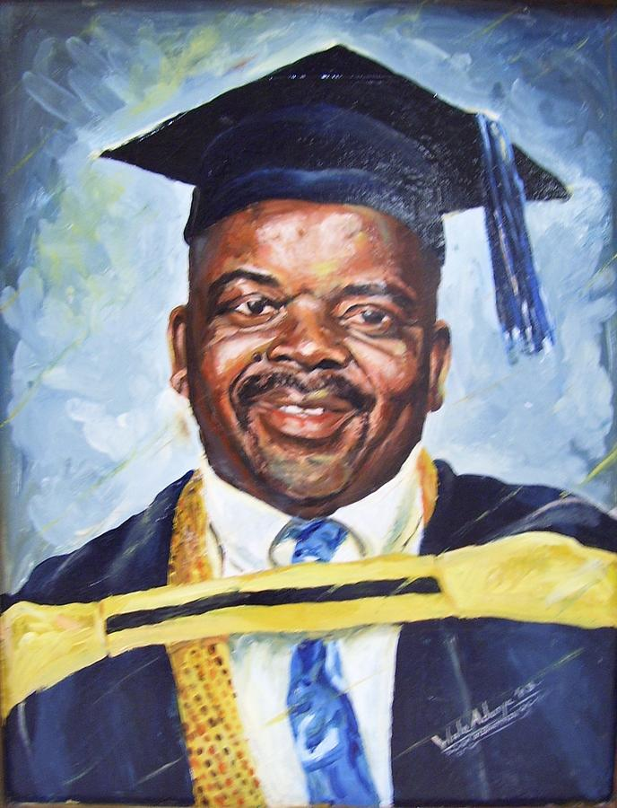 Portrait Painting - Success by Wale Adeoye