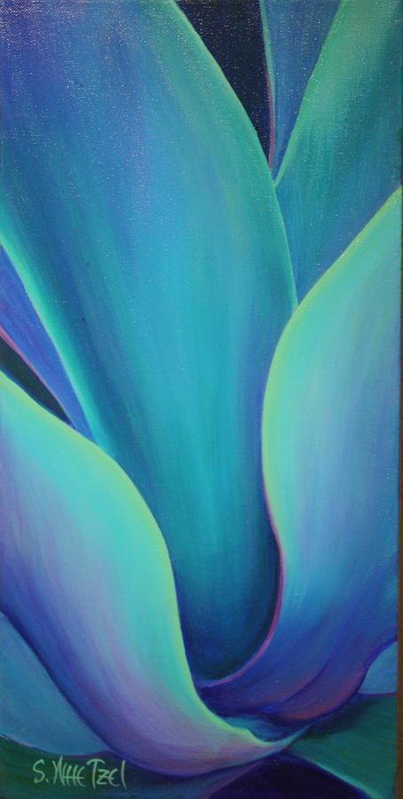 Succulent Painting - Succulent Embrace by Sandi Whetzel
