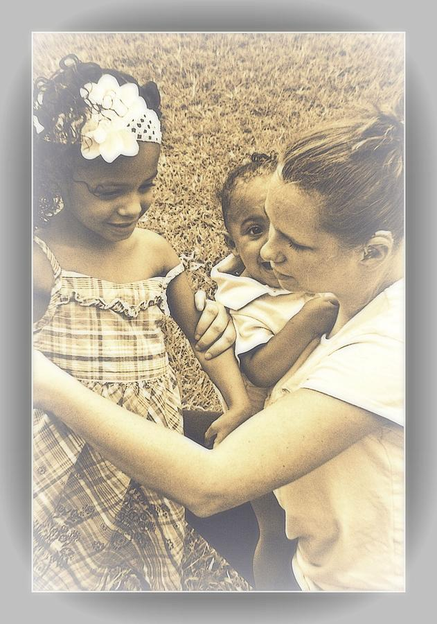Portrait Photograph - Such A Bond Between The Three by Vanessa Reed