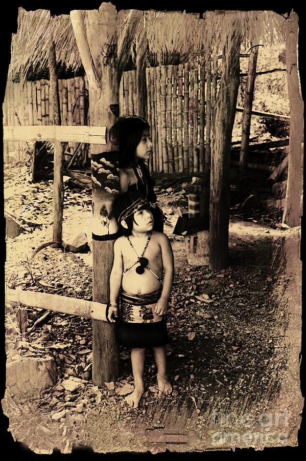 Expression Photograph - Sucua Kids 895 by Al Bourassa
