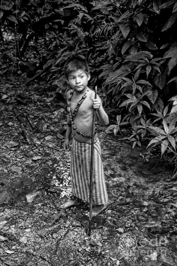 Boy Photograph - Sucua Kids 898 by Al Bourassa